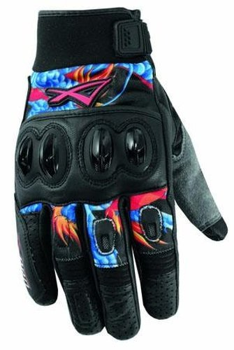 Hi Quality Leather Textile Motorcross Gloves Motorcycle Apparel A-PRO Blue XL
