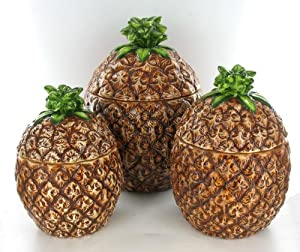 Pineapple fruit shaped kitchen canister set for Decoration list mhw