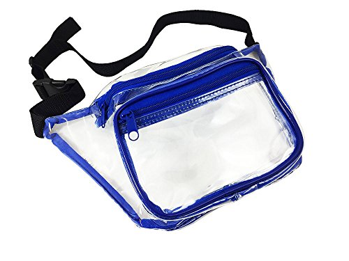 Clear Fanny Pack. NFL Approved Waist Bag for Events, Games, and Concerts Transparent (Blue) (Chicago Concert Tickets compare prices)