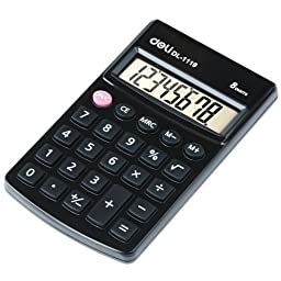DL No.1119 8-Digit Portable Type Calculator Function Tables Calculator - Black by DL