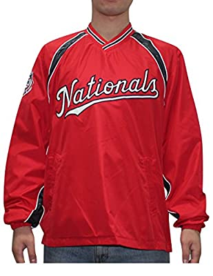 MLB WASHINGTON NATIONALS Mens Fall / Winter Wind Breaker Jacket with Lining