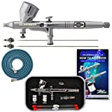 Master Airbrush® Brand G444-SET High Precision Detail Control Dual-Action Gravity Feed Airbrush Professional Set with a Free 6 Foot Air Hose. Now Included Is a (FREE) How to Airbrush Training Book to Get You Started, Published Exclusively By TCP Global.