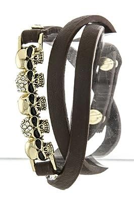 Trendy Fashion Skull Bar Wrap Bracelet By Fashion Destination from Fashion Destination