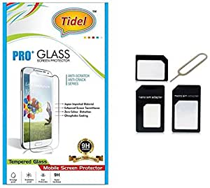 Tidel 2.5D Curved Tempered Glass Screen Guard Protector For Moto G Play 4th gen (Motorola Moto G4 Play) With Micro/Nano Sim Adapter