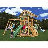 Gorillaplaysets Home Outdoor Playground Garden Patio BackYard Ovation Cedar Swing Set