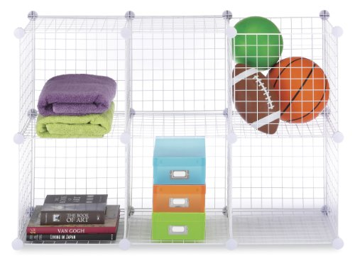 Whitmor 6071-968-WHT 6071968WHT Wire Storage Cubes Set 6 White (Stack And Rack compare prices)