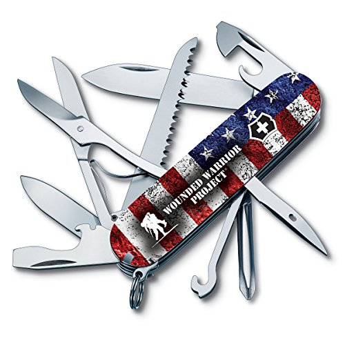 Victorinox Swiss Army Fieldmaster Pocket Knife 55075.US2, Wounded Warrior Project Collection, American Flag with WWP Logo