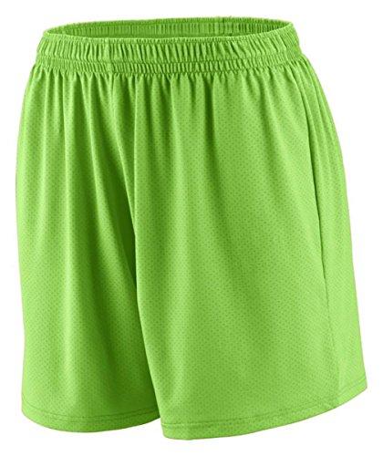 Augusta Sportswear Ladies Inferno Elastic Waistband Short, Lime, X-Large