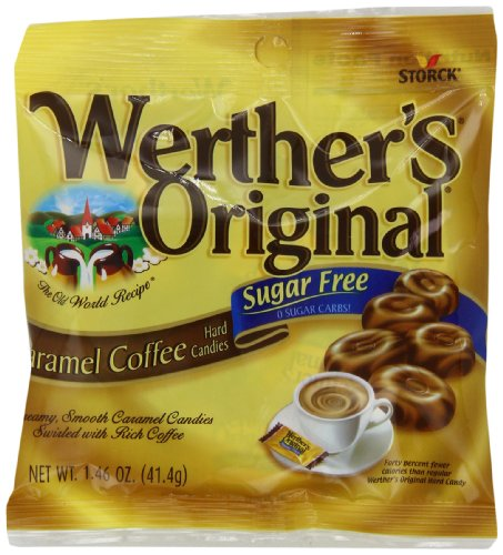 Werthers Original Sugar Free Hard Candy, Coffee, 1.46-Ounce (Pack of 12)