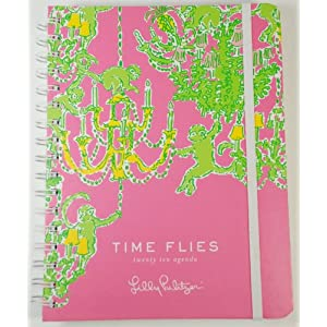 2010 Lilly Pulitizer Time Flies Large Datebook Agenda Planner Monkey TROUBLE HIBISCUS