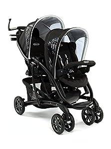 Graco Quattro Tour Duo Sport Luxe - Carrito doble (0 a 36 meses), color negro en BebeHogar.com