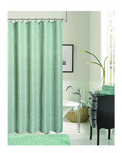 Dainty Home Miranda Shower Curtain, Aqua