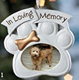 Loving Memory Dog Memorial Christmas Ornament Photo