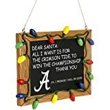 NCAA College Resin Chalkboard Sign Christmas Ornament - Pick Team