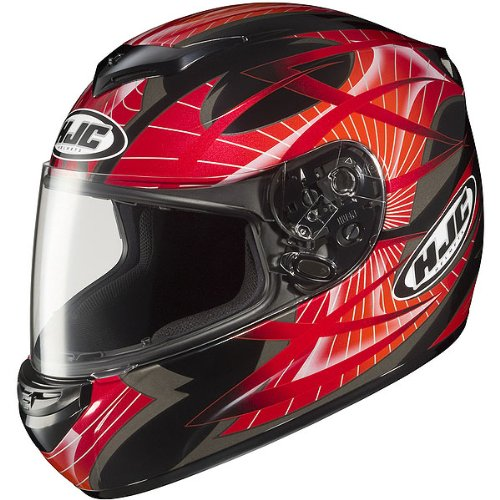 HJC Storm Men's CS-R2 Sports Bike Racing Motorcycle Helmet – MC-1 / Large