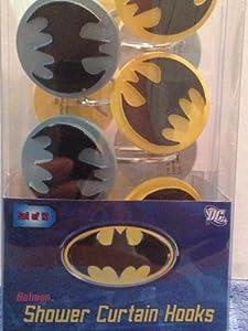 Batman Shower Curtain Hooks set of 12