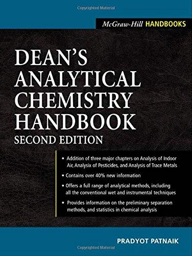 Dean'S Analytical Chemistry Handbook (Mcgraw-Hill Handbooks)