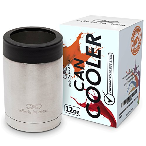 12 oz CAN COOLER stainless steel, double wall can cooler, can holder, travel insulated tumblers (can cooler) (Can Holder Cooler compare prices)
