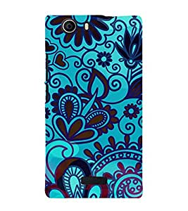 ifasho Designer Phone Back Case Cover Micromax Canvas Nitro 2 E311 ( Purple Pink Duck Queen Colorful Pattern Design )