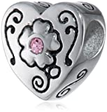 Disney Stainless Steel Grandma Heart Bead Charm