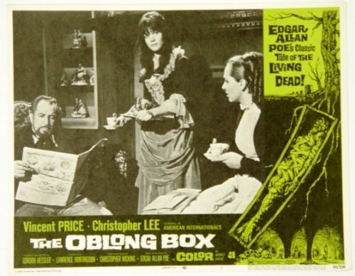 Edgar Allan Poe'S The Oblong Box Lobby Card With Vincent Price Having Tea With 2 Women 14 X 11 Inches #7