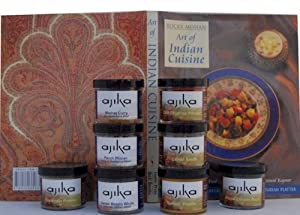 Indian Cuisine Cooking Starter Kit Gift - Cook Book Spices Seasonings - Gourmet Gift For The Chef from Ajika