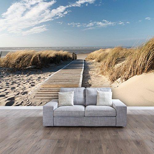 papier peint photo summer beach 104 366cm x 254cm oc an mer plage dune colle inclu photo. Black Bedroom Furniture Sets. Home Design Ideas