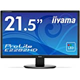 iiyama ディスプレイ モニター E2282HD-B1 21.5インチ/フルHD/LED