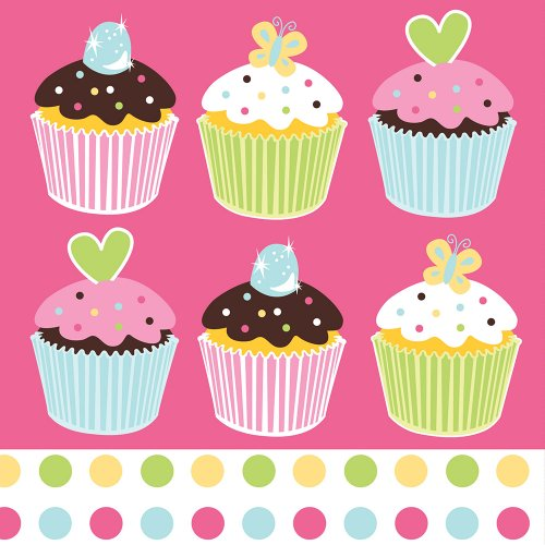 Cupcake Birthday Napkins