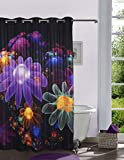 Lushomes Digitally Printed Floral Flowers Shower Curtain with 10 Eyelets