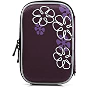 Hard Drive Disk Protective Zipper Carrying Shell Case Cover Bag For 2.5 Inch Portable External Hard Drive Purple... - B01GJNLQMW