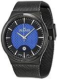 Skagen Men's 234XXLTBN Black Titanium Quartz Watch with Blue Dial
