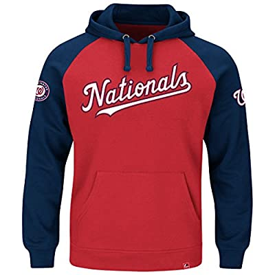 "Washington Nationals Majestic MLB ""Cunning Play"" Men's Hooded Sweatshirt - Red"
