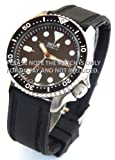 22mm Navy Seal II Silicon Rubber watch strap with black stitching Fits Seiko watches
