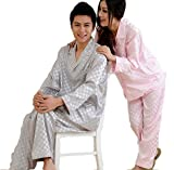 Meilleur reve(メイヤーリーブ)男女 肌 触り なめらか シルク パジャマ 快適な 眠り エレガント 長袖 上下 セット 選べるサイズ(1メンズ L)