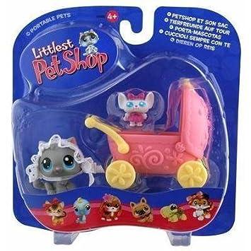 Littlest Pet Shop Portable Pets Cat Figure [Cozy Carriage] by Hasbro