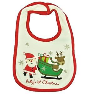 Carter's Baby's 1st Christmas Santa & Sleigh Bib