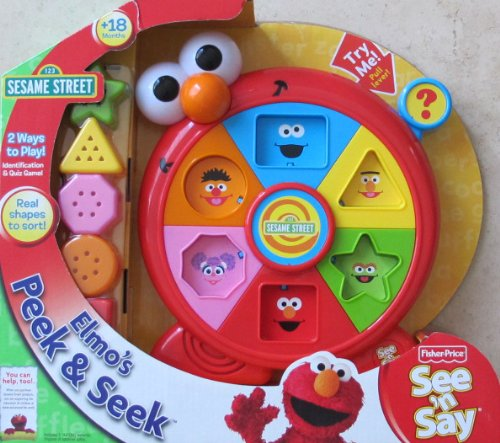 Sesame Street Elmo Peek & Seek See 'N Say W Sounds & Shapes To Sort (2008 Fisher Price)