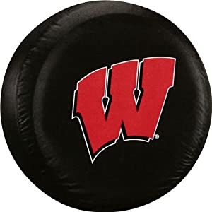 Wisconsin Badgers NCAA Spare Tire Cover (Black) by JR Sports
