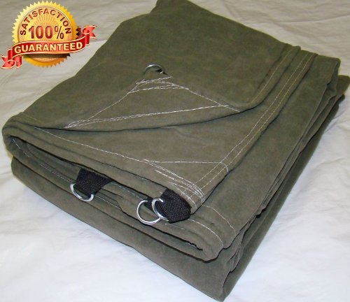 New 8x8 Heavy Duty Canopy Canvas Tarp D-rings Boat cover Farm Best Tarp Natural Camo