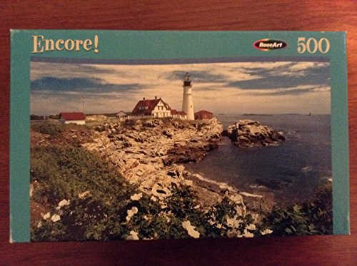 White Rose at Portland Head, Main - Encore 500 pc Puzzle