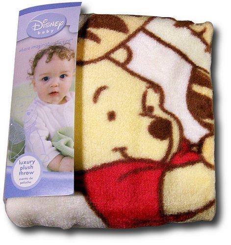 "Winnie the Pooh Luxury Plush Throw Blanket ""Taste of Hunny"" - 1"
