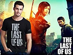The last of us Naughty dog cosplay costume t shirt asian size