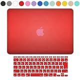 【MS factory/RMC series】 MacBook Air 11.6ケース (Early 2015 対応) マット加工 ハード シェルケース + 日本語 キーボードカバー (JIS配列)《全13色》 マックブック エア 11.6インチ レッド (赤) RMC-SETA11MRD