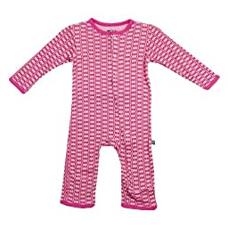 KicKee Pants Girls Toddler Onepiece Coverall Romper-Lotus Rings, 4T