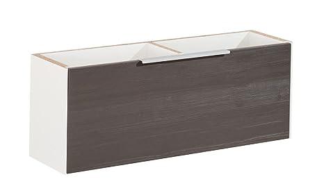 Fackelmann–Mobile sottolavello-scera/Front colore pino struttura Grigio/per piscine Mulde destra/larghezza 79,5cm