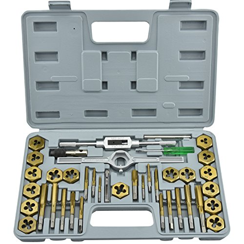 Neiko® 00911A Premium Tap and Die Set with Titanium Coating | 40-Piece Set | SAE