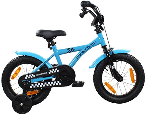 PROMETHEUS-Kinderfahrrad-14-Zoll-Jungen-Kinderrad-in-Farbe-Blau-Schwarz-mit-Sttzrdern-Seitenzugbremse-und-Rcktrittbremse-ab-4-Jahren-14-BMX-Edition-2016