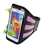 SumacLife Mesh Outdoor Running Sports Armband Case Pouch For Samsung Galaxy S5 / NOTE 3 / Sony Xperia Z2 / HTC...