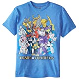 Transformers Big Boys' Short Sleeve T-Shirt Shirt, Royal Heather, Medium / 10/12
